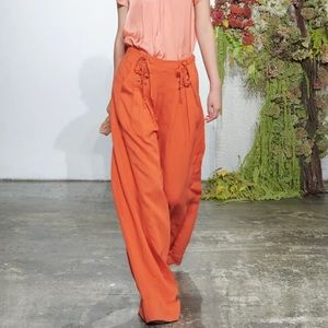Ulla Johnson Orange High Waisted Wide Leg Pants 2